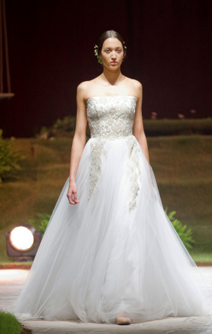 Tulle A-line dress by David Fielden