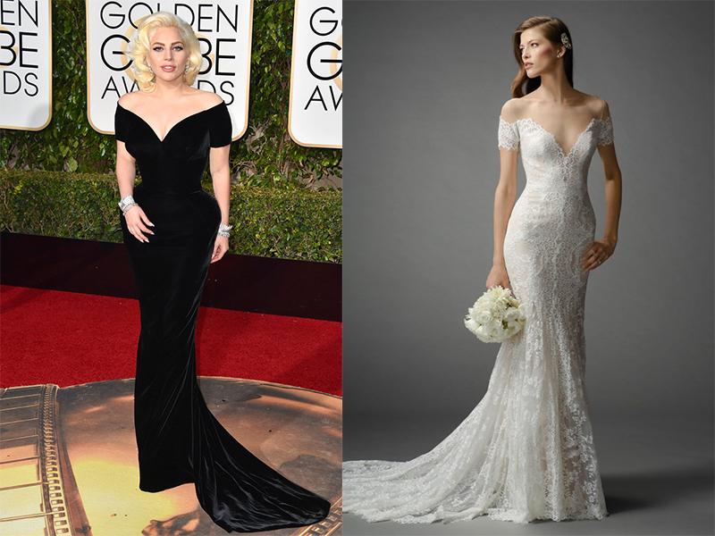 Lady Gaga Watters Kleinfeld Bridal