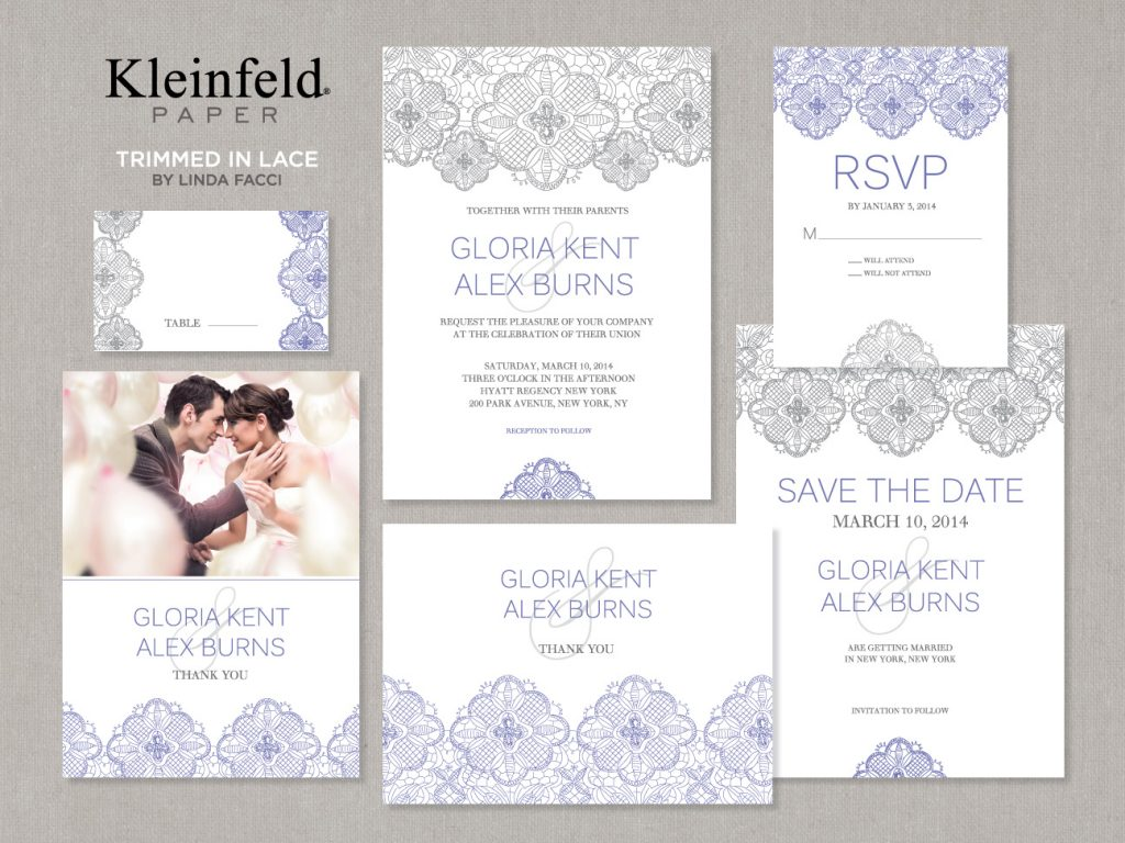 Trimmed in Lace Kleinfeld Paper