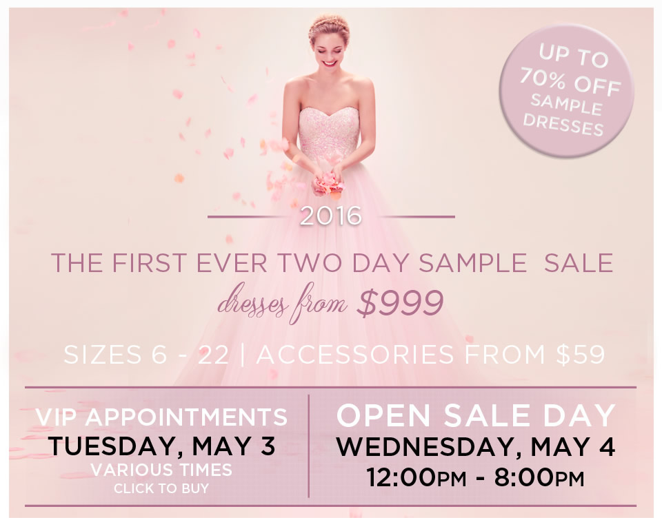 Kleinfeld Sample Sale 2016