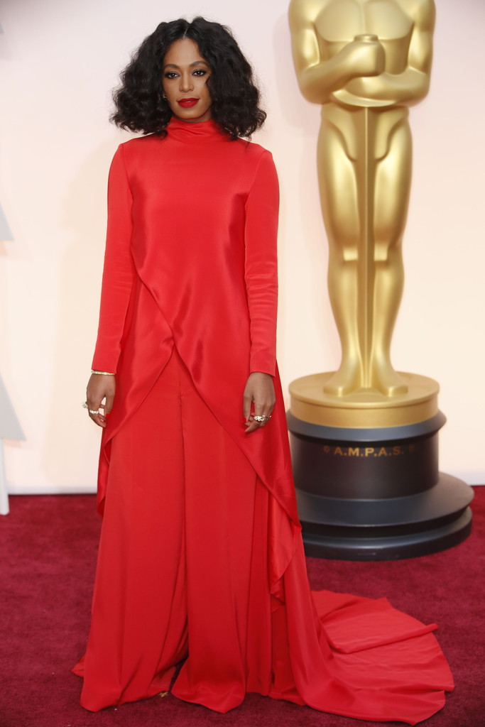 Solange Knowles in Christian Siriano (Getty)