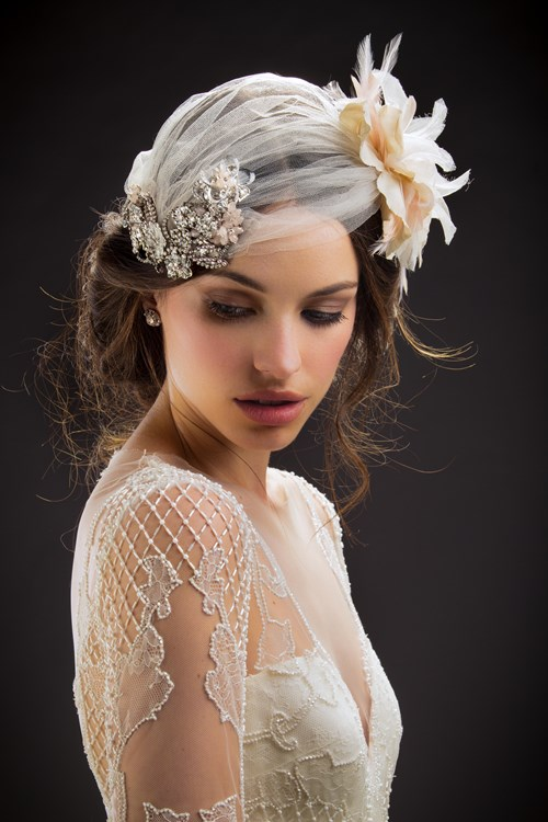 Maria Elena Headpieces at Kleinfeld Bridal